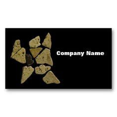 Mosaic Stone Man Business Card Templates
