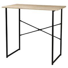 Living & Co Student Desk with Black Frame Oak Look | The Warehouse Student Desks, Oak Color, Colour, Table Desk, Garden Furniture, Home And Garden, Frame, Black, Home Decor