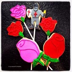 sant jordi diada cultural de catalunya... roses i caballers