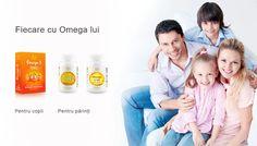 Ingrediente: ulei de pește 500 mg, din care Omega 3150 mg, cu  80 mg EPA, 50 mg DHA. Mod de administrare: copii între 3 și 7 ani – câte 1-2 tablete pe zi, între 7 și 11 ani – câte 2-3 tablete pe zi, după masă. Se administrează prin mestecare.