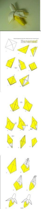 bananas paper-folding