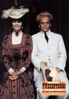 "German actor Klaus Kinski and Italian actress Clauda Cardinale in the Movie ""Ftzgeraldo"", 1982"