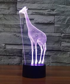 Mercer Giraffe 3D Optical Illusion Color-Changing LED Night Lamp | zulily