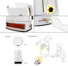 Baking Pot by Won Kang , Hyo Kang & Min Kyu  - The Baking Pot is a toaster and coffee pot design that hopes to brew your cuppa blend and toast some bread at the same time. Read more at http://www.yankodesign.com/2014/09/19/toasted-coffee/#zSRlWek0Yaz0DBM2.99