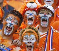 Everything turns orange when the Dutch play soccer.