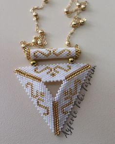 @gulertaskent #miyuki #miyukidelica #miyukikolye #miyukitaki #ayferletakitasarim @ayferletaki #gold #beyaz #zincir #brickstitch #jewellery #handmade #stone #lüleburgaz #