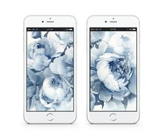 Dress Your Tech: Blue & White Floral | lark & linen Dress Your Tech, Free Prints, Printable Invitations, Mobile Wallpaper, Chinoiserie, Peonies, Free Printable, Backdrops, Blue And White