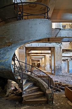 Abandoned power station. Why do the stairs in a power station need to be so cool?