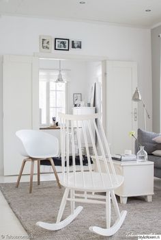 ikea,aurora,hay about a chair,madamoiselle,olohuone Hay Chair, Rocking Chair, Ikea, White Houses, Bassinet, Lounge, Living Room, Modern, Design