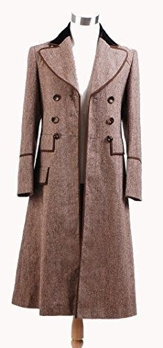 129.00$  Buy here - http://vinrj.justgood.pw/vig/item.php?t=3vl8xr27139 - Fashion-Mart Doctor Who Long Brown Trench Coat Cosplay Costume 129.00$