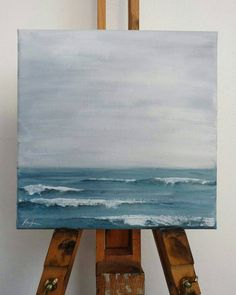 Whisper, original acrylic seascape painting on canvas, 20x20cm