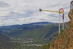 Glenwood Caverns Giant Canyon Swing! Did this with my Hubby :) it was awesome!!