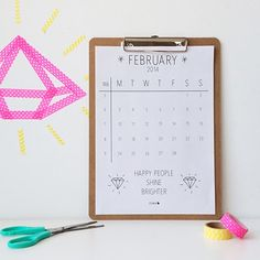 february - printable calendar