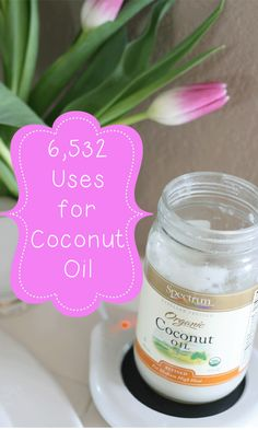 TONS of ways to use Coconut Oil. #coconutoil
