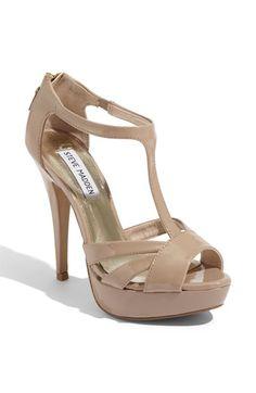 Steve Madden - nude t-bar heels