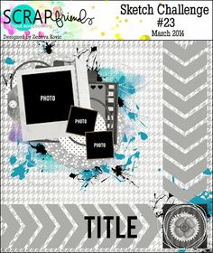 ScrapFriends - All about Scrapbooking: Sketch Challenge #23