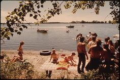 Young People of New Ulm, Minnesota, Spending a Sunday Swimming and Boating at Clear Lake Three Miles West of Town... | Flickr - Photo Sharing!