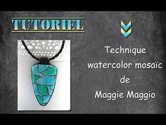 tuto fimo/polymère watercolor mosaic + petite astuce. - YouTube