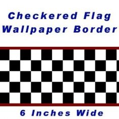 Chequered Flag Cars Nascar Wallpaper Border-15cm (Red Edge) by CheckeredWallpaperBorder.com - Shop Online for Toys in the United Kingdom