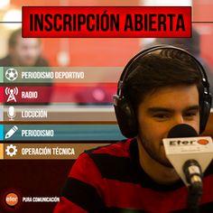 Inscripciones para todas las carreras.  http://quevasaestudiar.com/estudiar-en-ETER-Escuela-de-Comunicaci%C3%B3n-97  #locución #periodismo #radio #deportivo #edición