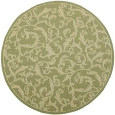 Safavieh Courtyard Olive/Natural 5.3 ft. x 5.3 ft. Round Area Rug-CY2653-1E06-5R at The Home Depot