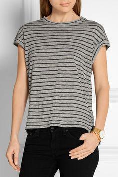 Frame Denim | Le Muscle striped slub linen T-shirt | NET-A-PORTER.COM