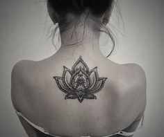 White-Lotus-Flower-Tattoo-on-back-500x421.png (500×421)