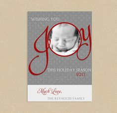 Sale Printable Holiday Photo Card 4x6 or 5x7 Big by seedtosprout, $12.75