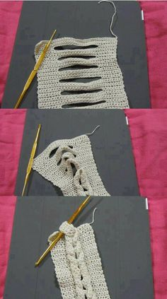 how to create a braid in crochet- simple Crochet Diy, Crochet Simple, Gilet Crochet, Love Crochet, Learn To Crochet, Crochet Scarves, Crochet Crafts, Crochet Projects, Crochet Cable