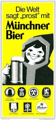 Original-Werbung/ Anzeige 1969 - MÜNCHNER BIER / MÜNCHEN -ca.115 x 240 mm