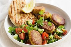 This delicious meat-free felafel salad is packed with flavour, perfect for a weeknight dinner.