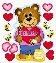 Játékos tanulás és kreativitás: Teremdíszek 3. Valentines Day Bears, Weather Seasons, Class Decoration, Circle Time, Motor Activities, Activity Games, Autumn Trees, Childhood Education, Winnie The Pooh