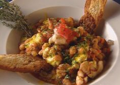 Florida Lobster Cassoulet with Saffron Rouille by Marty Blitz
