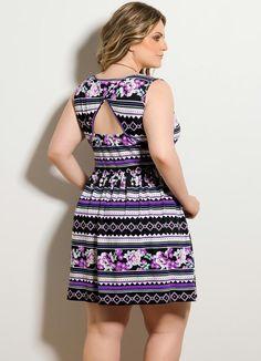 Short Dresses, Summer Dresses, Ideias Fashion, Curvy, Floral, Outfits, Clothes, Patterned Dress, Ethnic Dress