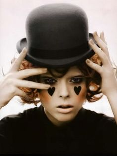 Make-up for the Charlie Chaplin Halloween Costume.