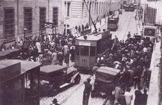 Principios 1936.Choques entre estudiantes de izquierda y falangistas cerca de la Universidad.