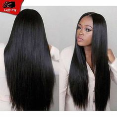 2016 New Peruvian full lace human hair wigs Lace Front silky straight wigs for black women unprocessed virgin human hair wigs
