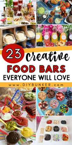 23 Food Bar Ideas for Parties