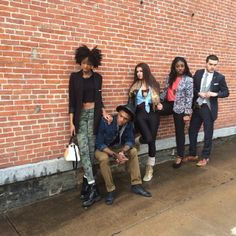 Urban Chic models Sabrina Morciglio, LaShawna Westmoreland, Fatou Sangare, Cleveland Robinson, and Nick Morciglio took part in the photo shoot for the upcoming Caz College Fashion Show. Photographer: Brittany Juravich #CazenoviaCollege