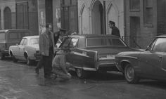 Cops go over car believed to have belonged to Crazy Joe. Colombo Crime Family, The Rap Game, Cops, Mafia, Funeral, Believe, Mobsters, History, Celebrities