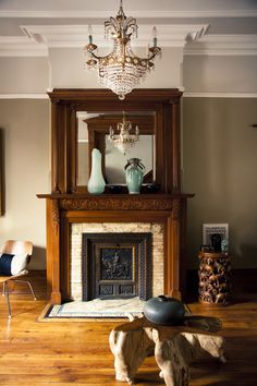 Brooklyn brownstone interior design project: modern living room ...