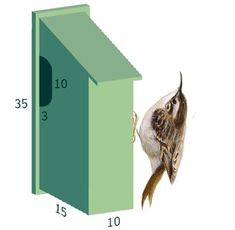 Make a nest box yourself Bird protection Woodworking Box, Woodworking Projects Plans, Garden Projects, Wood Projects, Wooden Bird Houses, Nature Words, Cool Typography, Nesting Boxes, Garden Fencing