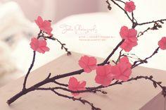 DIY Cherry Blossom Sakura Flower Origami Video Tutorial