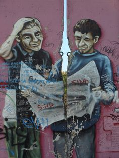 Art on the Berlin Wall, East Side Gallery East Side Gallery, Best Graffiti, Berlin Wall, Street Art, Graphic Sweatshirt, Artist, Photography, Painting, Fictional Characters