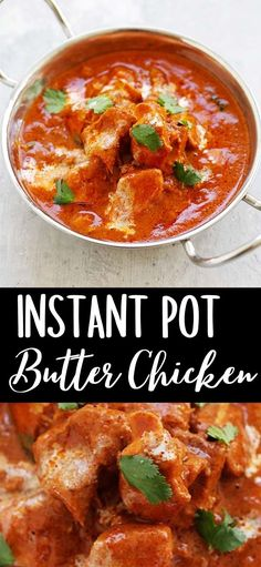Butter Chicken Sauce, Indian Butter Chicken, New Chicken Recipes, Chicken Appetizers, Rasa Malaysia, Delicious Dinner Recipes, Chinese Recipes, Slow Cooker Chicken, One Pot Meals