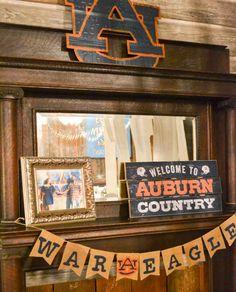 Wedding reception barn, wedding décor, auburn tigers. Rustic barn wedding and reception venue in Alabama whiteacresfarms.com