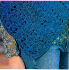 Poncho asimétrico (crochet)
