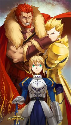 Fate/Zero~ King of Conquerors, King of Heroes, and King of Knights.