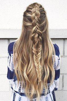 Long hair + braids = perfection. We're loving this mixed dutch and fishtail braid by @bowandarrowhair.
