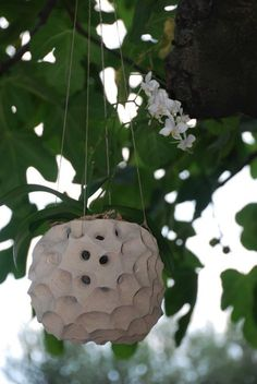 Porta piante da appendere in pietra leccese
